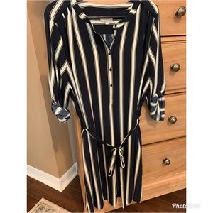 AMAZING Loft striped tie waist dress